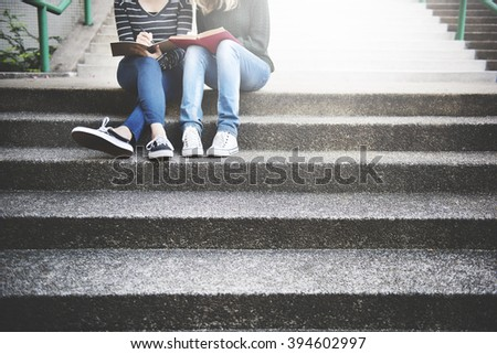 Women Talking Friendship Studying Brainstorming Concept #394602997