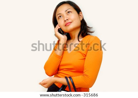 Women talking on the phone - casual