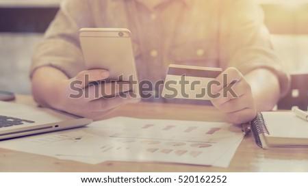 women using credit card...