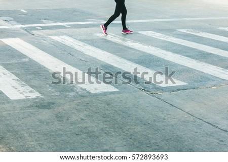 women walking on the crosswalk...