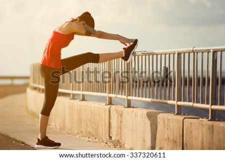 Women warm up before a morning workout