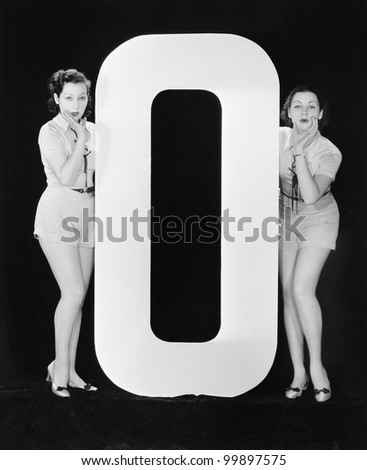 Women with huge letter O
