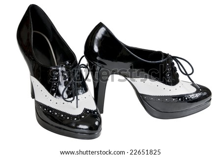 womens dress shoes with a white band to resemble 30 style