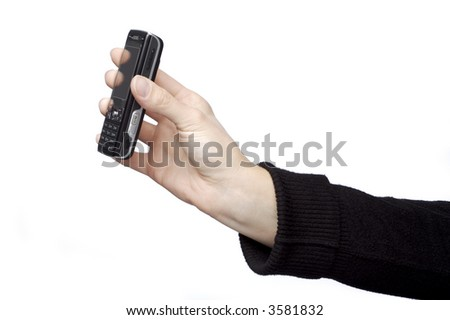 Womens Hand holding Mobile Phone