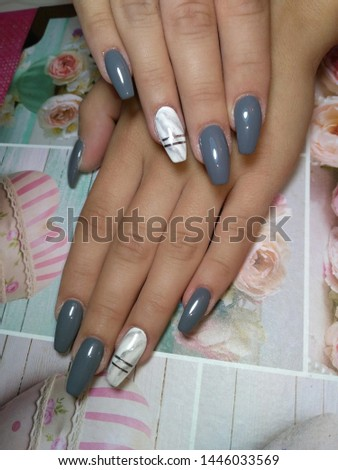 Womens hands with beautiful nails #1446033569