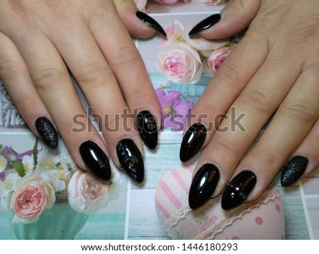 Womens hands with beautiful nails #1446180293