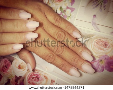 Womens hands with beautiful nails #1475866271