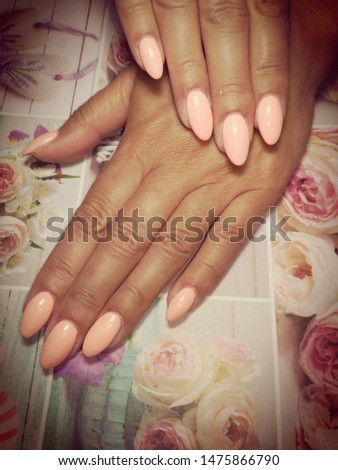 Womens hands with beautiful nails #1475866790