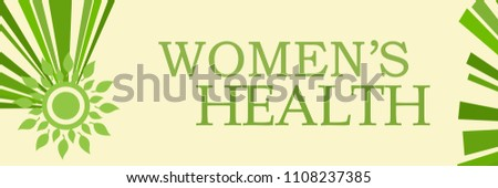 Womens health text written over green background.