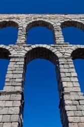 Wonderful aqueduct of Roman epoch, placed at Segovia's city