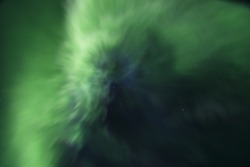 Wonderful Aurora Borealis. Iceland. August.