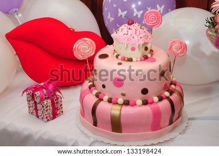 Wonderful birthday cake