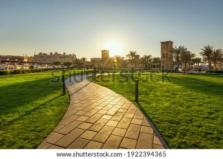 Wonderful evening view in Dammam park - City : Dammam, Saudi Arabia. 31-Jan-2021.( Selective focused and background blurred).