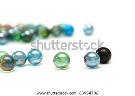Wonderful glass balls on a white background