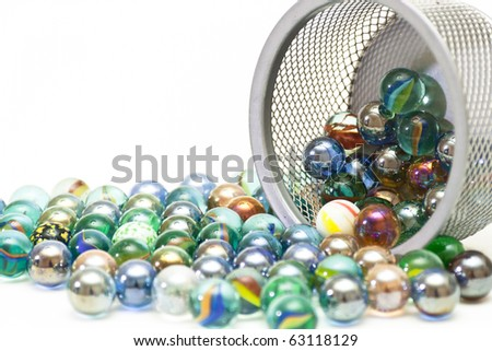 Wonderful glass balls with reflection of a decorative grid