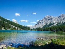 wonderful lake in the mountain outside the city