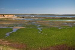 wonderful landscape of rio formosa natural park, olhao, algarve, portugal