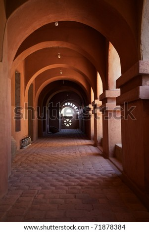 Wonderful moroccan style architecture in Mopti, in the land of the Dogons