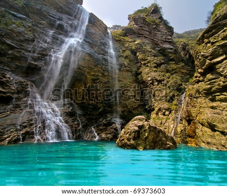 Wonderful natural waterfall in Lushan, Jiangxi, China
