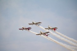Wonderful old airplane aerobatics show