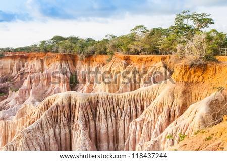 Wonderful orange colors at sunset in Marafa Canyon - also said The Hell's Kitchen. Malindi region, Kenya