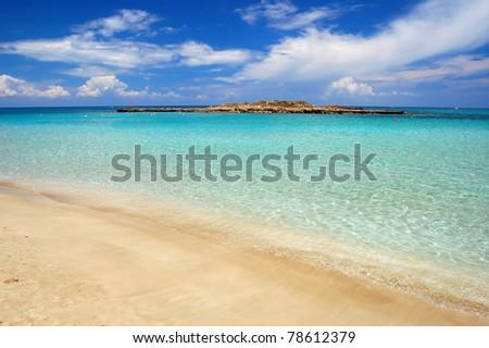 Wonderful sandy beach of Protaras on Cyprus island