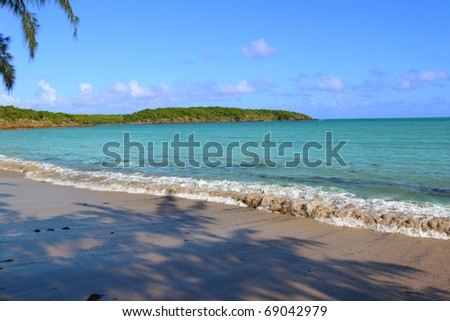 Wonderful Seven Seas Beach near Fajardo in Puerto Rico - stock photo