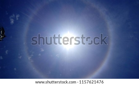 Wonderful sun and glitering more and rainbow is also very good capture to pic