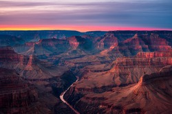 Wonderful sunset over the Grand Canyon