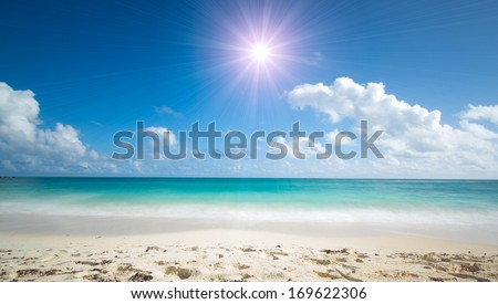 wonderful tropical beach