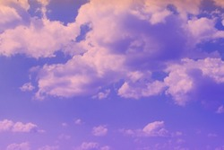 wonderful unreal colorful fantasy cumulus partially cloudy sky for using as background in design.