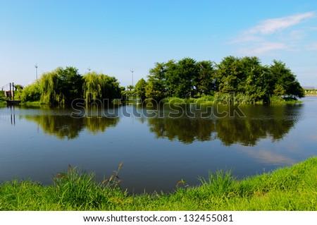 Wonderful view of Ardagani lake