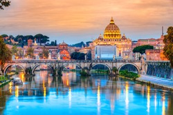 Wonderful view of St Peter Cathedral, Rome, Italy