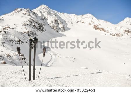 Wonderful winter skiing holiday.