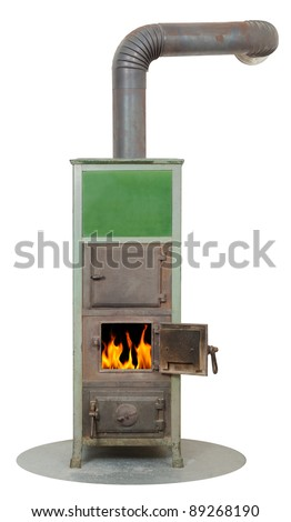 wood and coal fired burning masonry heater stove