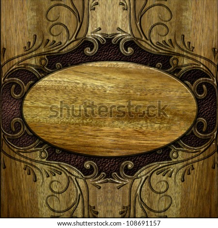 wood and leather texture background
