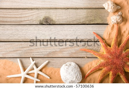 wood and sand background