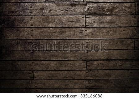 Wood background. Dark brown wood texture. #335166086