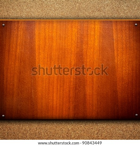 wood background with chipboard