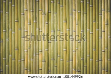 Wood bamboo fence pattern