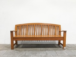 Wood Bench on a white background