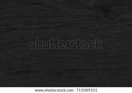 wood black table background. dark top texture blank for design - Shutterstock ID 715089331