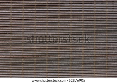 wood blind dark bamboo