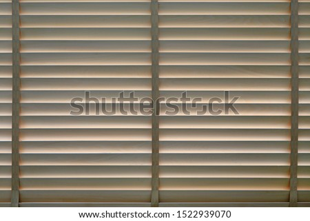 Wood blinds or curtain by the window. #1522939070