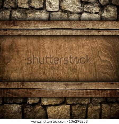 wood board on stone