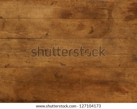 Wood board table brown individual boards