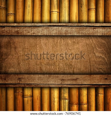 wood board with bamboo