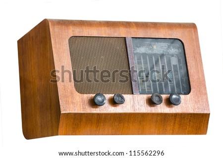 Wood body vintage tube radio receiver