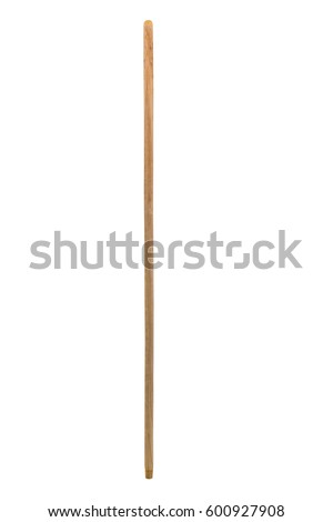 Wood broom stick isolated on white background.  #600927908