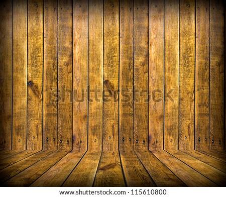 wood brown room interior. Wooden background
